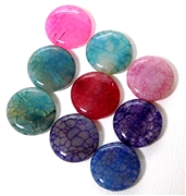 5pc Gemstone Crab Agate Round Assorted 18mm