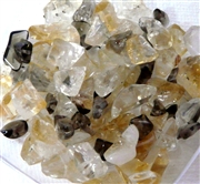 100pc Gemstone Chips Quartz & Citrine 6-8mm