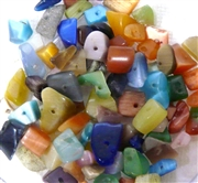 100pc Gemstone Chips Multi Cats Eye 6-8mm