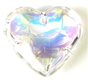 1pc clear ab heart pendant 45mm