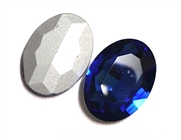 1pc Glass Crystal Stone Oval 30x20mm Royal Blue