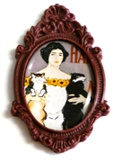 1pc resin setting 40x30mm antique frame burgundy