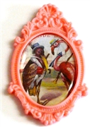 1pc resin setting 40x30mm antique frame cotton candy
