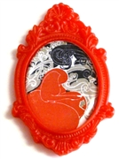 1pc resin setting 40x30mm antique frame red