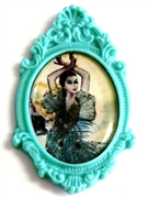 1pc resin setting 40x30mm antique frame teal