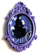 1pc resin setting 40x30mm antique frame lavender