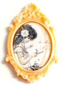 1pc resin setting 40x30mm antique frame blush