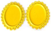 2pc enamel lace egde settings 25x18mm yellow
