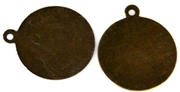 2pc brass backing with tab 15mm