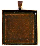 1pc antique copper 25mm pendant setting square