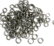 100pc Assorted Antique Silver Jump rings 4-8mm
