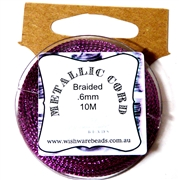 10m .6mm Braided Thread Metallic Purple