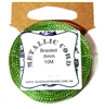 10m .6mm Braided Thread Metallic Green
