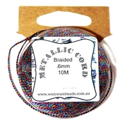 10m .6mm Braided Thread Metallic Multicolour