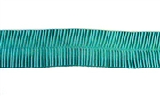 20cm lace piece crimped ribbon teal 40mm wide