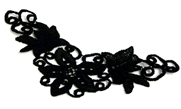 1pc black lace swirl piece