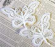 1pc lace butterfly small white 9x7cm