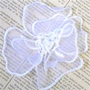 1pc white 2 layered lace flower 9cm