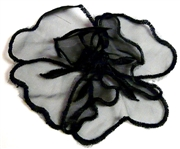 1pc organza layered flower black 10cm