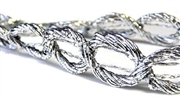 1m metallic silver ribbon chain