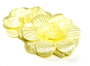 2pc posey flowers satin lemon