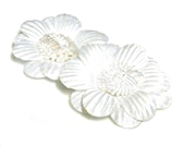 2pc posey flowers satin white