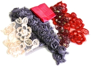 6pc assortment lace packet purples, pinks & reds - 5-15cm pieces
