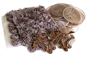 15pc assortment lace packet browns - 3-15cm pieces
