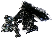 5pc assortment lace packet black - 3-15cm pieces