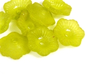 30pc 11mm cupped flowers lucite olive