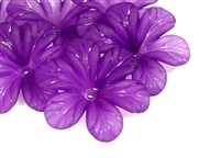 5pc 30mm posey flowers lucite purple