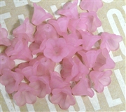 10pc 10mm Lucite Bell Flowers Rose Pink