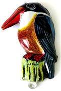 1pc enamel charm kingfisher 25x40mm
