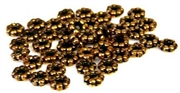 40pc metalized plastic spacers antique gold 4mm