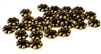 25pc metalized plastic antique gold daisy spacers 6mm