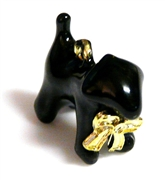 1pc black enamel dog pendant 20x18mm