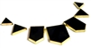 7pc enamel black pendant set