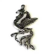 1pc antique silver peacock pendant 55x26mm
