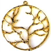 1pc antique gold tree of life pendant 36mm