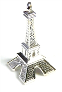 1pc silver plated large eiffel tower charm/pendant 55x20mm