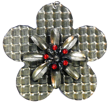 1pc rhinestone flower pendant large 8cm