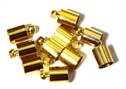 10PC Cord End antique Gold 6mm Plain