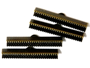 4PC Ribbon Ends Antique Brass Plated 35mm