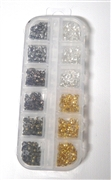 240PC Bulk Box Charlotte Ends Brass Copper Silver & Gold