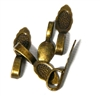 5PC Antique Brass Large Bails