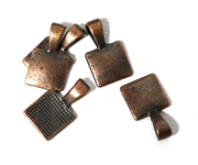 5PC Antique Copper Square Bails