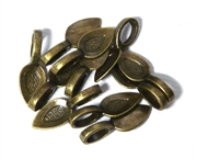 15PC Antique Brass Large Bails