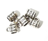 5PC Antique Silver Small Tube with Loop Snowflake 8mm