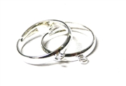 2PC antique silver plated ring bases with loop