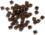 50PC Antique Copper Cube Spacer Beads 4mm